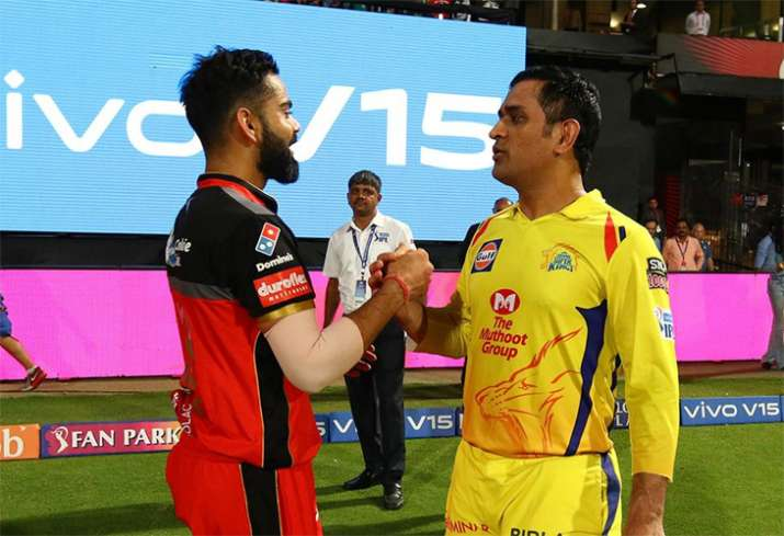 Virat Kohli MS Dhoni IPL 2019 Chennai Super Kings Royal Challengers Bangalore M Chinnaswamy Stadium- India TV