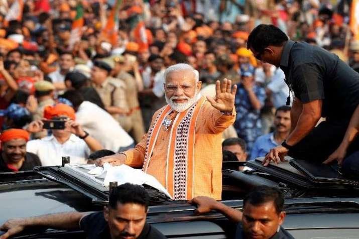 PM Modi's Varanasi Mega Road Show pictures - India TV