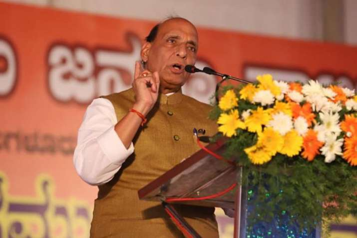 Tried best to reach out to Kashmir, must scrap Article 370 and 35A, says Rajnath Singh | Facebook- India TV