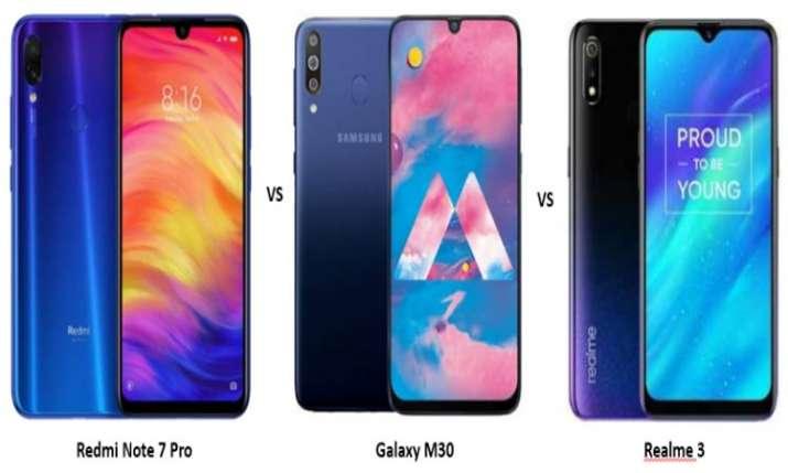 Realme 3 Pro vs Xiaomi Redmi Note 7 Pro vs Samsung Galaxy M30: Price, specifications comparison- India TV Paisa