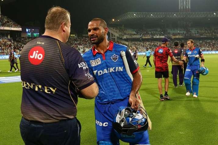 Shikhar Dhawan Missed his First T20 Century IPL 2019 Delhi Capitals Kolkata Knight riders- India TV