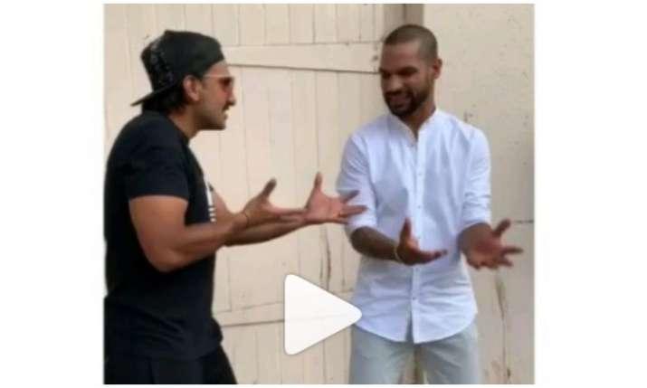Ranveer singh and shikhar dhawan- India TV