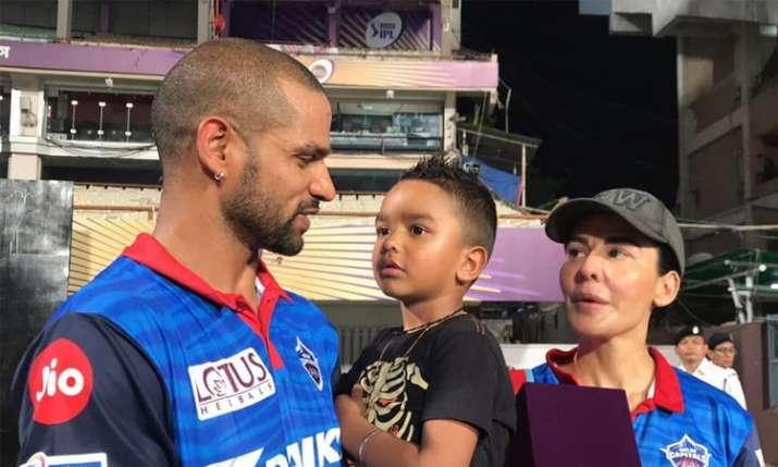 Shikhar Dhawan Aaisha Dhawan Delhi Capitals IPL 2019...- India TV
