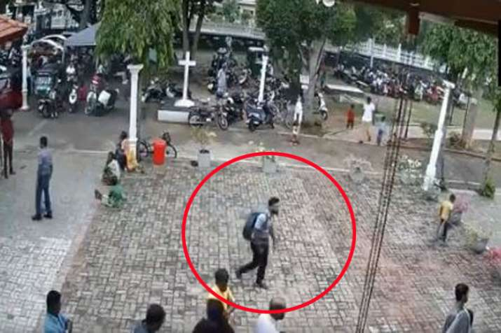 CCTV footage of suspected suicide bomber walking into St Sebastian church on Easter Sunday- India TV