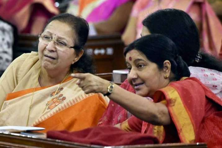 Image result for sushma swaraj and sumitra mahajan