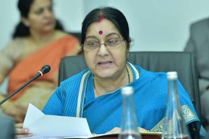 If terrorism is not a poll issue, then Rahul Gandhi should give up SPG security, says Sushma Swaraj - India TV