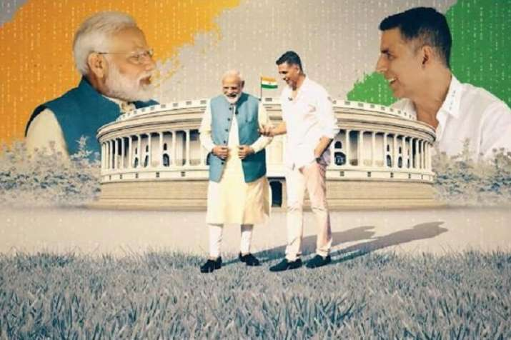 Akshay kumar has done video interaction with Pm Modi- India TV