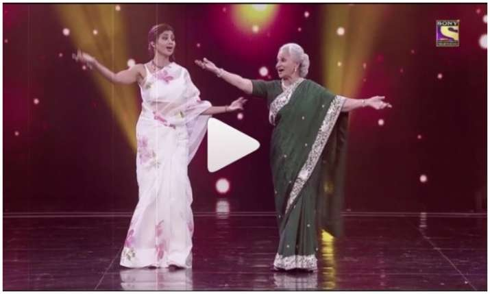 Dance video of waheeda rehman and shilpa shetty- India TV