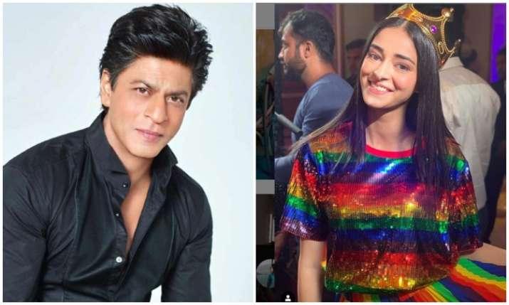 Shahrukh khan and ananya panday- India TV