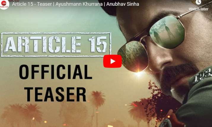 Article 15 Teaser- India TV