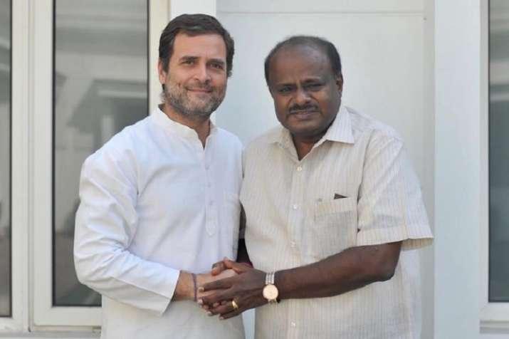 HD Kumaraswamy and Rahul Gandhi- India TV