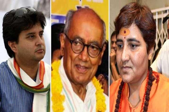 jyotiraditya scindia, digvijay singh and sadhvi...- India TV