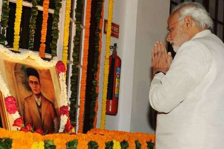 PM Modi pays tribute to prolific poet, social reformer and courageous fighter Veer Savarkar - India TV