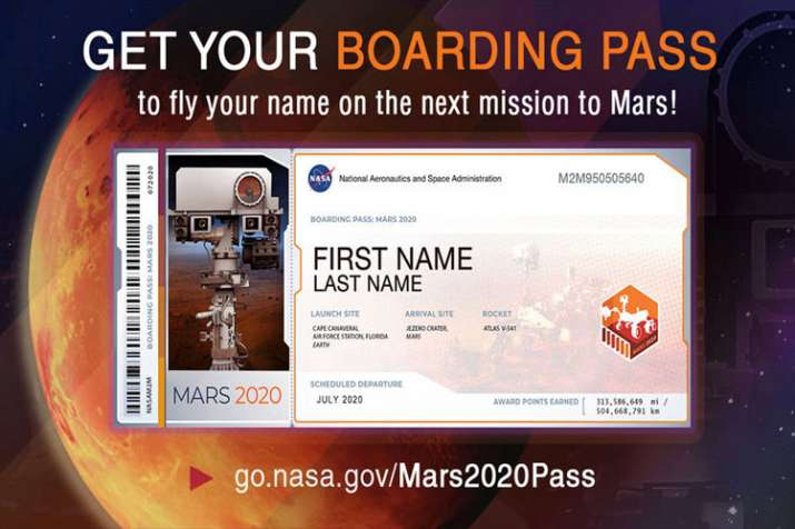 Send your name here to fly aboard NASA's next Mars rover in 2020- India TV