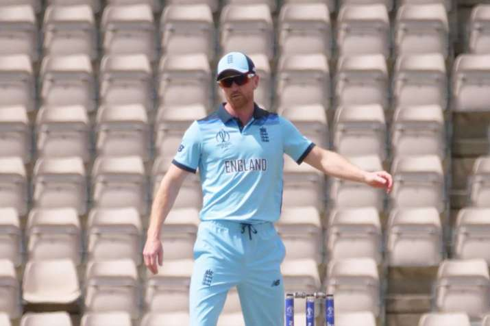 Englands assistant coach Paul Collingwood on field against Australia warm-up Match- India TV