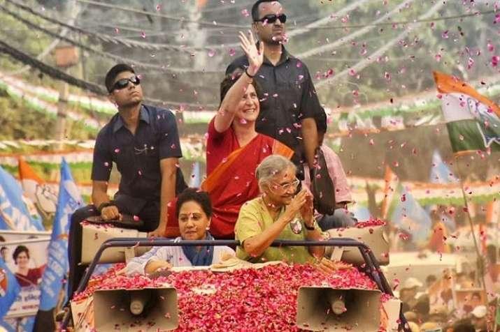 Priyanka Gandhi Road Show- India TV