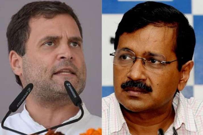 Rahul Gandhi and Arvind Kejriwal | Facebook/PTI- India TV