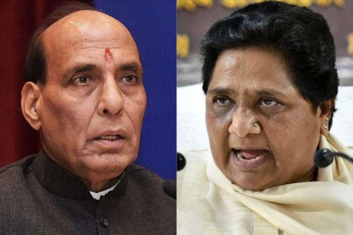 Home Minister Rajnath Singh and BSP Chief Mayawati | PTI File- India TV