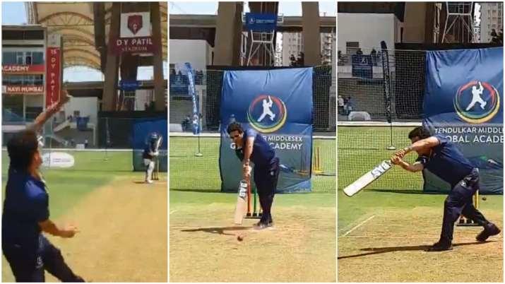 Video: वर्षों बाद विनोद कांबली के खिलाफ खेलने उतरे सचिन तेंदुलकर, नेट पर जमकर कराई एक दूसरे को प्रैक- India TV