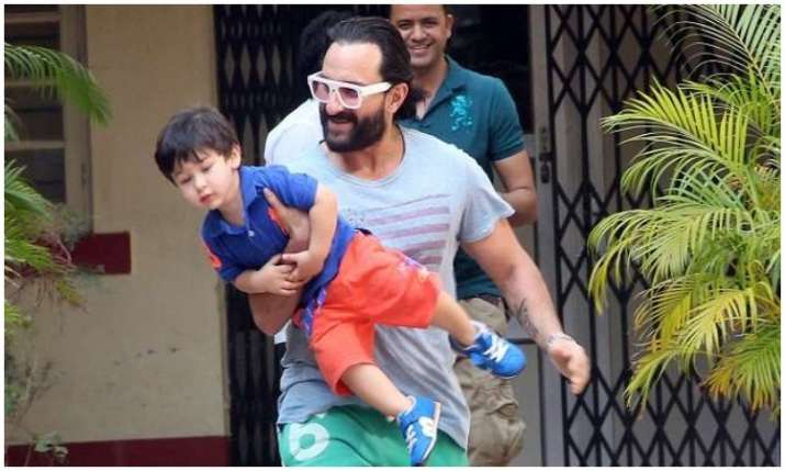 Saif ali khan and Taimur ali khan- India TV