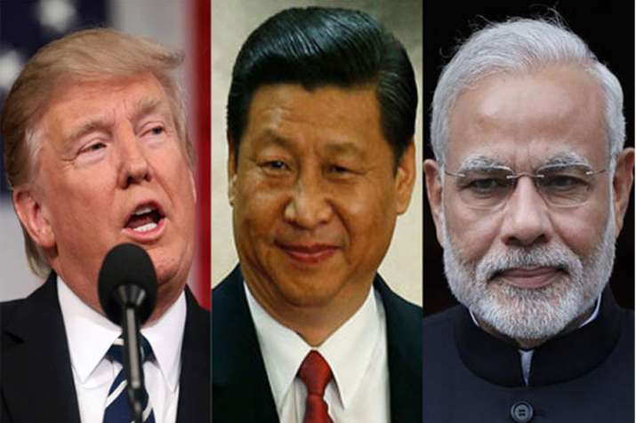 Donald Trump, Xi Jinping and Narendra Modi | AP File- India TV