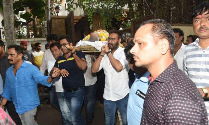 Veeru Devgan last rites- India TV