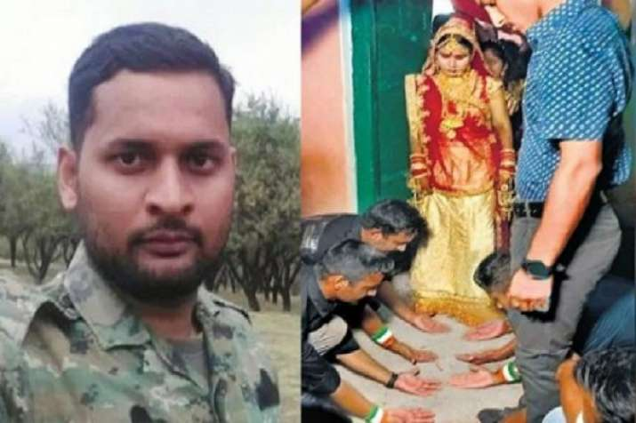 Fellow soldiers joined martyr commando nirala sister...- India TV