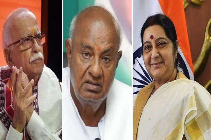 Advani, Devegowda and Sushma swaraj- India TV