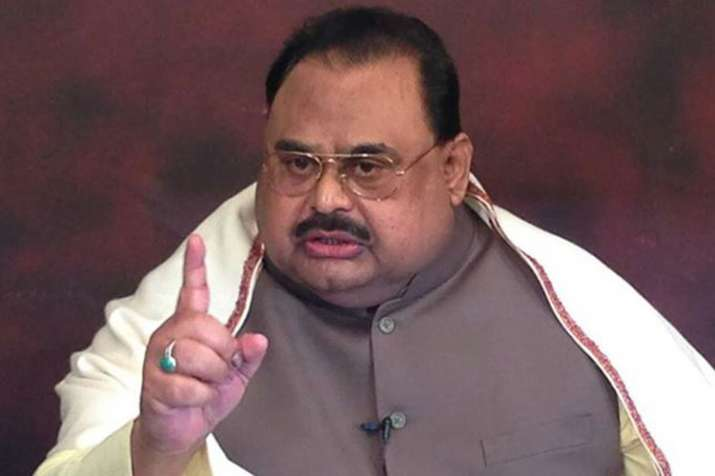 Pakistani political leader and MQM founder Altaf Hussain...- India TV