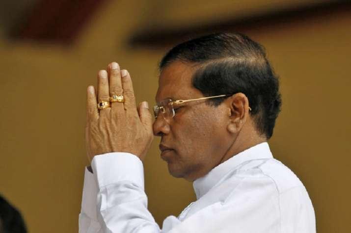श्रीलंका के राष्ट्रपति मैत्रीपाला सिरिसेना- India TV