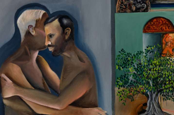 Bhupen Khakhar 1980s painting Two Men in Benares homosexuality on breaks record- India TV