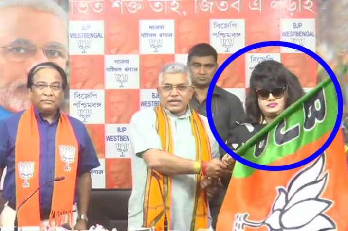 Bangladeshi Actress Anju Ghosh joined BJP in presence of Dilip Ghosh in Kolkata.- India TV