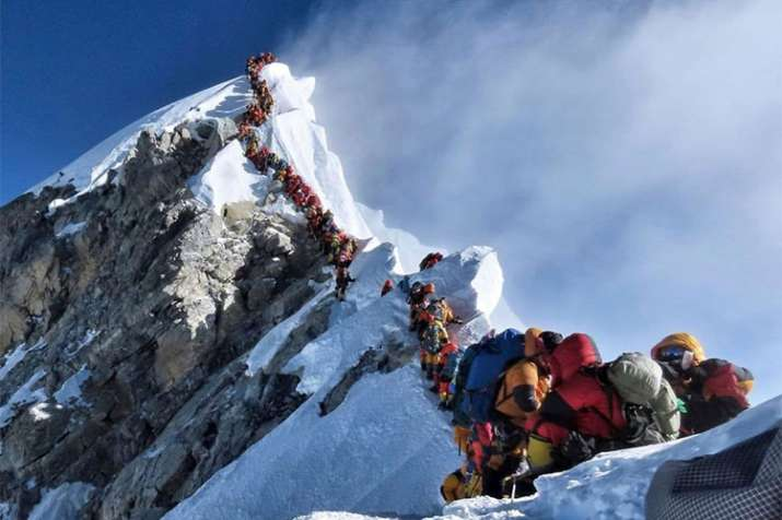 Traffic jam did not cause all deaths on Mount Everest, says Nepal government | AP Photo- India TV