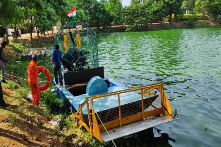 "National Aeronautics Laboratory (NAL) launched ""Jaldost"" at the Halasuru Lake incentral Bengaluru- India TV"