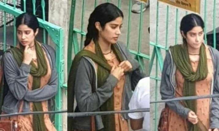 Janhvi Kapoor on the set of RoohiAfza- India TV