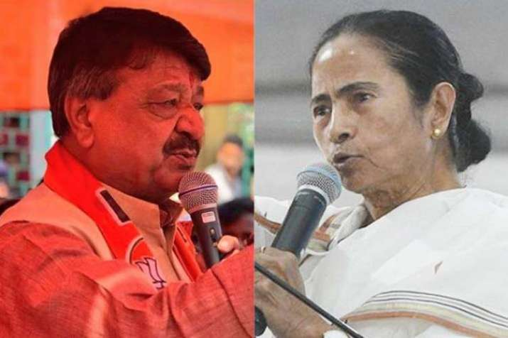 Kailash Vijayvargiya and Mamata Banerjee File Photo- India TV