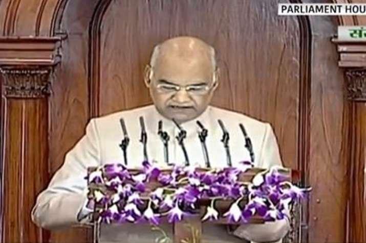 मोदी के 'न्यू इंडिया' का विजन, संसद के संयुक्त सत्र को संबोधित कर रहे हैं राष्ट्रपति कोविंद- India TV