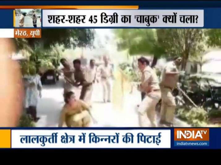 VIDEO: मेरठ में पुलिस ने...- India TV