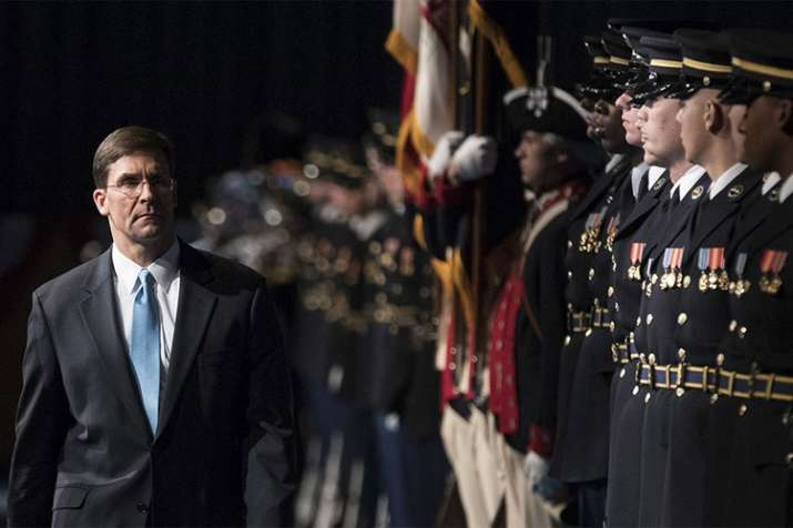 Mark Esper is the new acting Defence Secretary of US | AP File- India TV