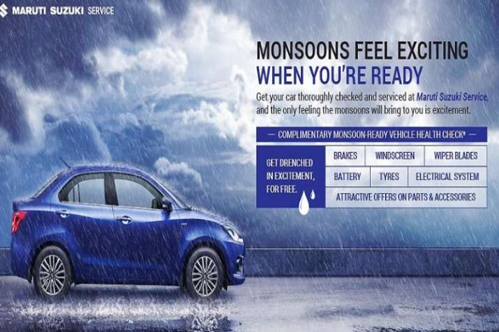 maruti suzuki free car service monsoon camp start 20 june to 20 july 2019- India TV Paisa