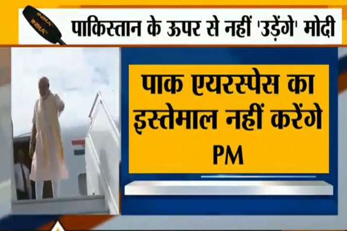 PM Modi will not fly over Pakistan's Air Space to reach SCO Summit in Bishkek Kyrgyzstan- India TV