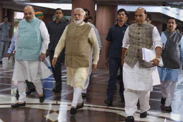 Narendra Modi, Amit Shah and Rajnath Singh | PTI File- India TV