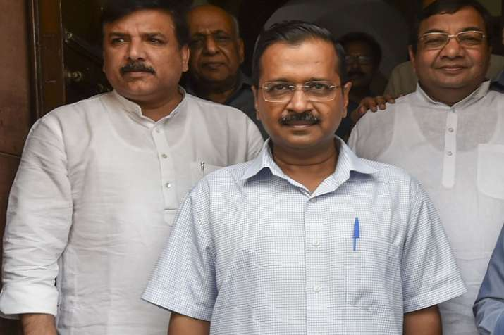 Arvind Kejriwal and other AAP leaders- India TV
