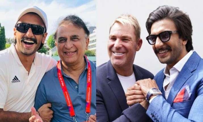 Ranveer Singh met Shane Warne and Sunil Gavaskar in london- India TV
