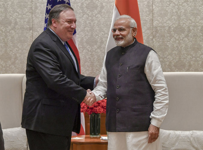 Mike Pompeo and PM Modi- India TV