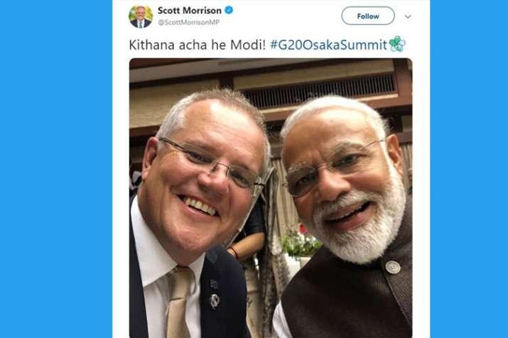 Modi and Morrison- India TV