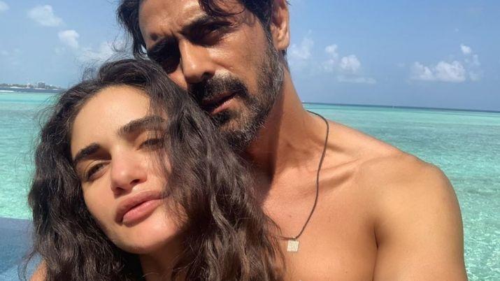 Arjun rampal and gabriella demetriades- India TV