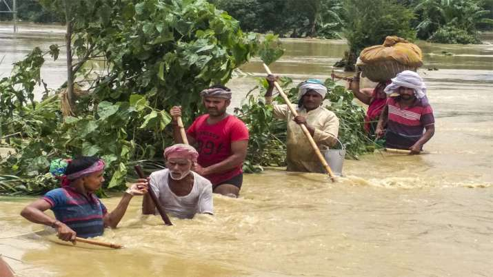 Flood in bihar and Assam