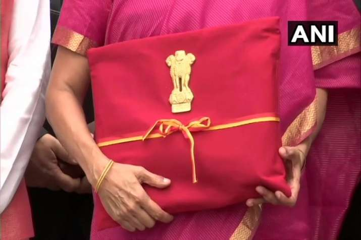Budget 2019 finance minister nirmala sitharaman budget documents in red cloth- India TV Paisa