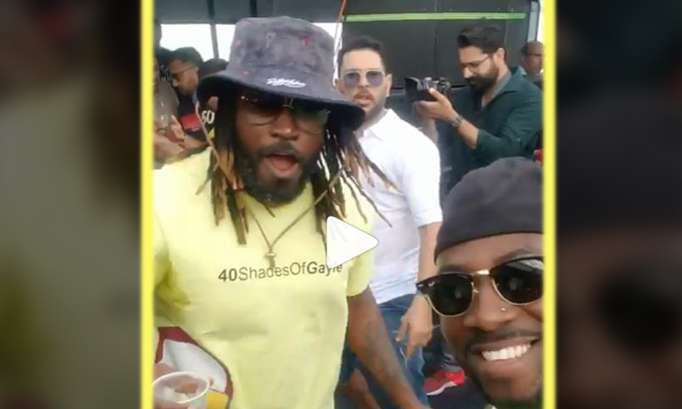 Chris Gayle, Andre Rusell, and Yuvraj Singh- India TV